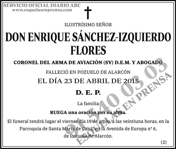 Enrique Sánchez-Izquierdo Flores